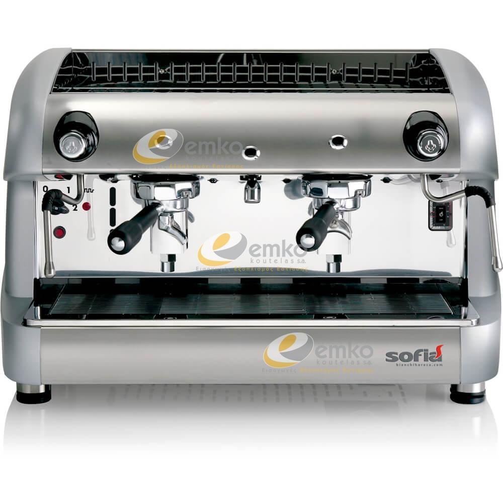 Ημιαυτόματη μηχανή espresso Sofia 2gr γκρι