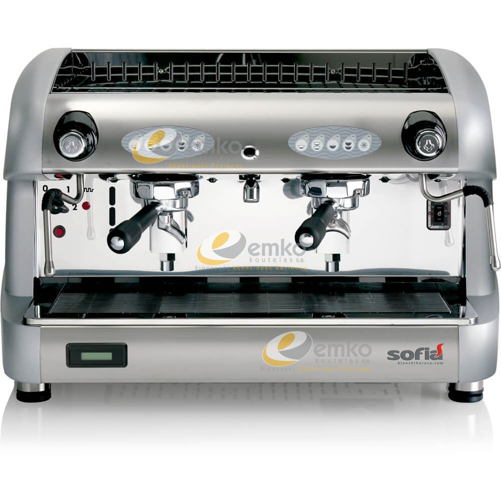Αυτόματη μηχανή espresso Sofia 2gr ασημί