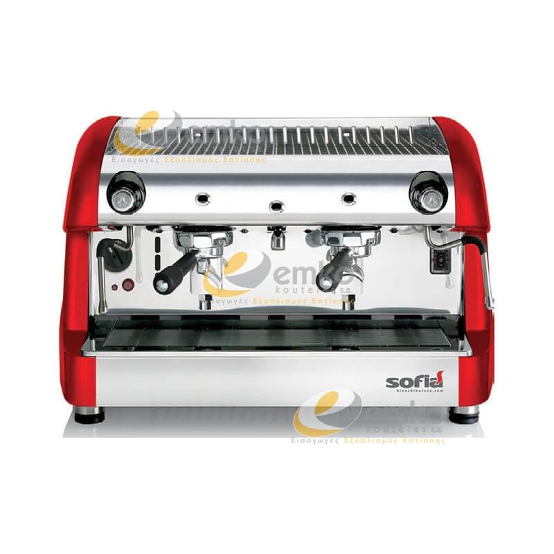 Μηχανή καφέ espresso SOFIA ημιαυτόματη κόκκινη